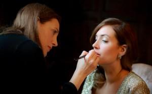 Catherine doing makeup (c) Mel Wilde