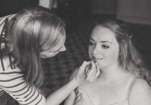 Catherine Bailey doing make-up (c) Murray Clarke