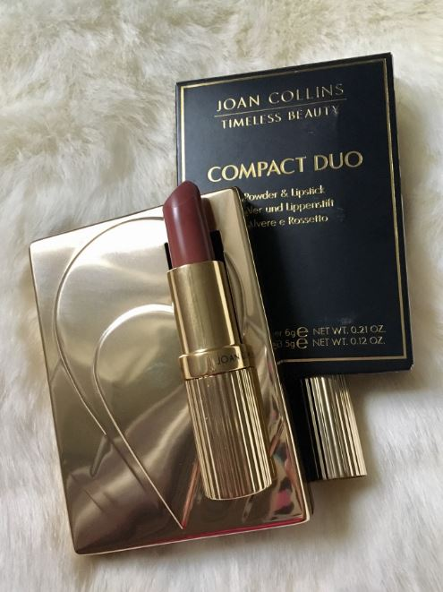 Joan Collins Compact Duo Powder & Lipstick